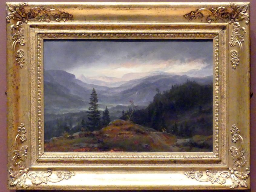 Johan Christian Clausen Dahl: Blick über Hallingdal, 1844