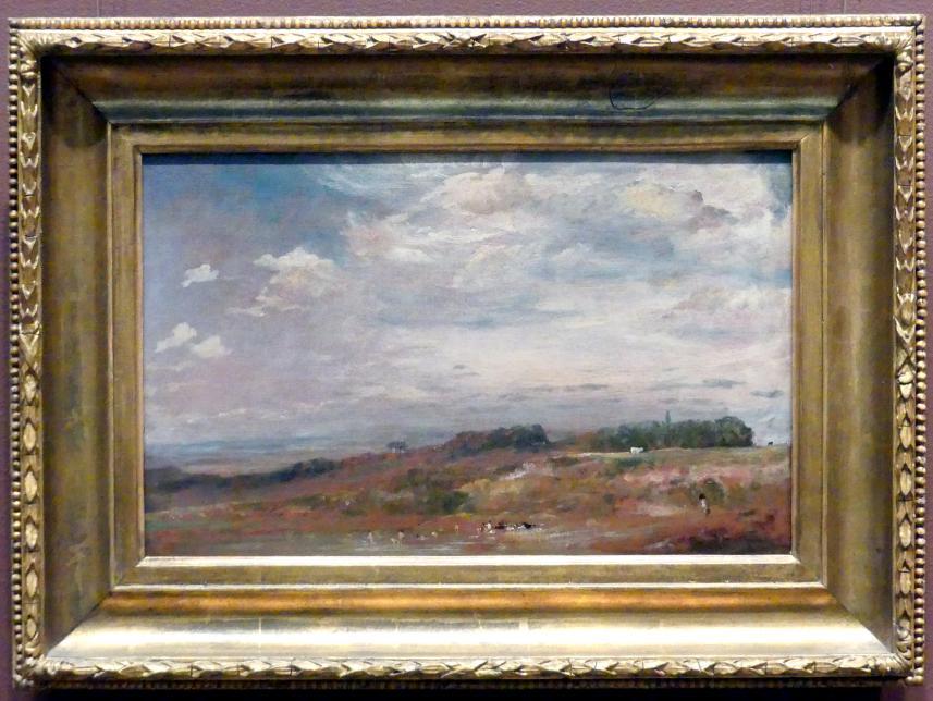 John Constable: Hampstead Heath mit Badenden, um 1821 - 1822
