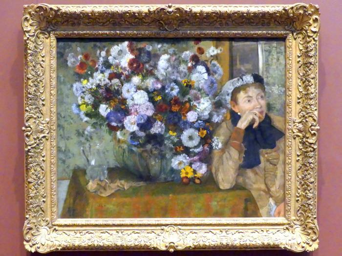Edgar Degas: Eine Frau neben einer Blumenvase sitzend (Madame Paul Valpinçon?), 1865