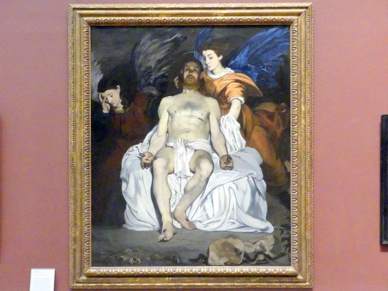 Édouard Manet: Der tote Christus mit Engeln, 1864