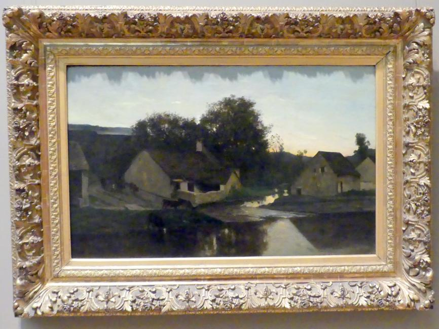 Charles-François Daubigny: Der Weiler Optevoz, um 1852