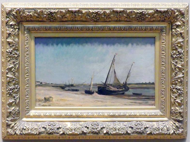 Charles-François Daubigny: Boote an der Küste von Étaples, 1871