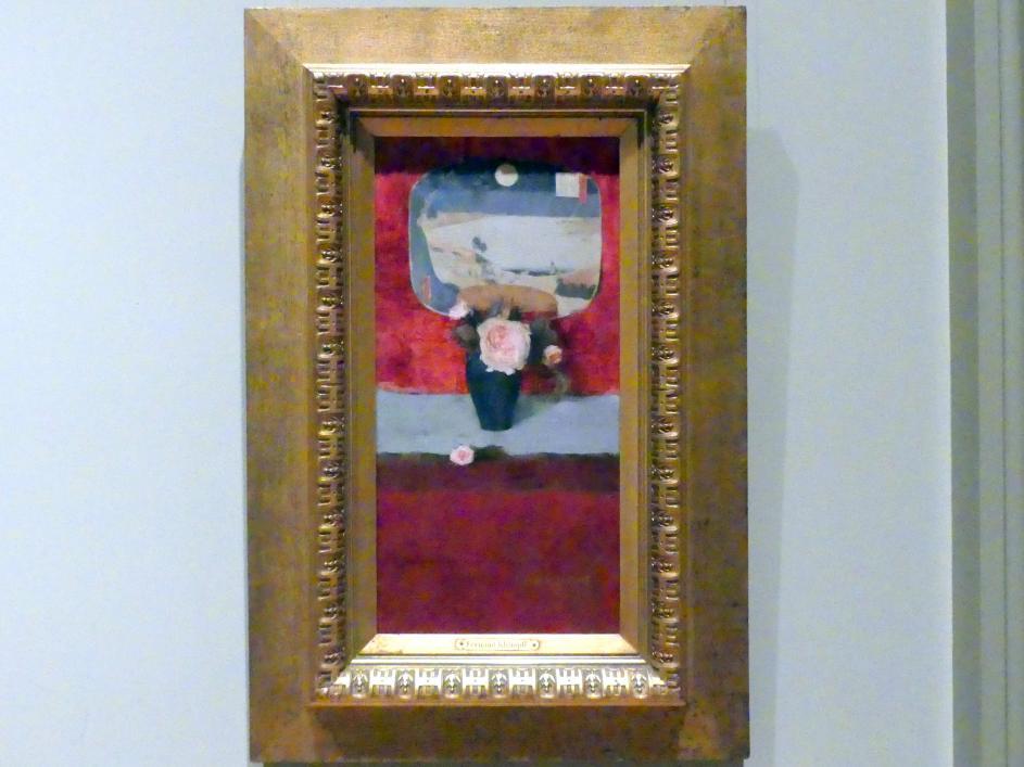 Fernand Khnopff: Rosen und japanischer Fächer, um 1885