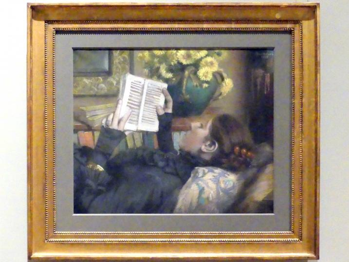 Albert Bartholomé: Die Frau des Künstlers (Périe, 1849–1887) beim Lesen, 1883