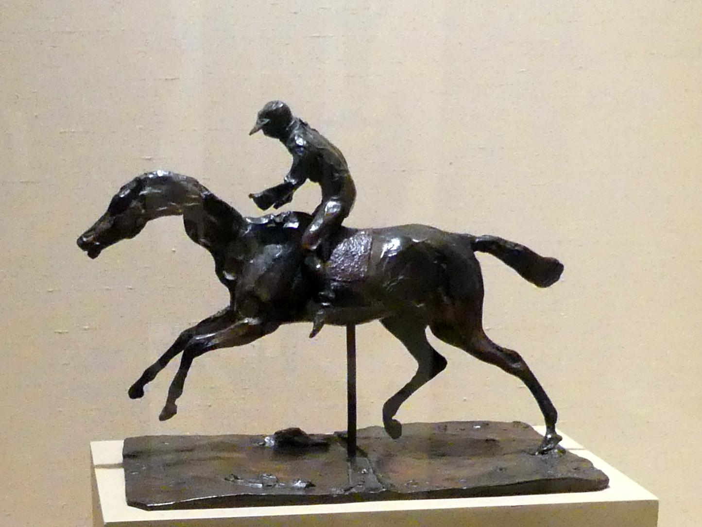 Edgar Degas: Pferd mit Jockey, vor 1871
