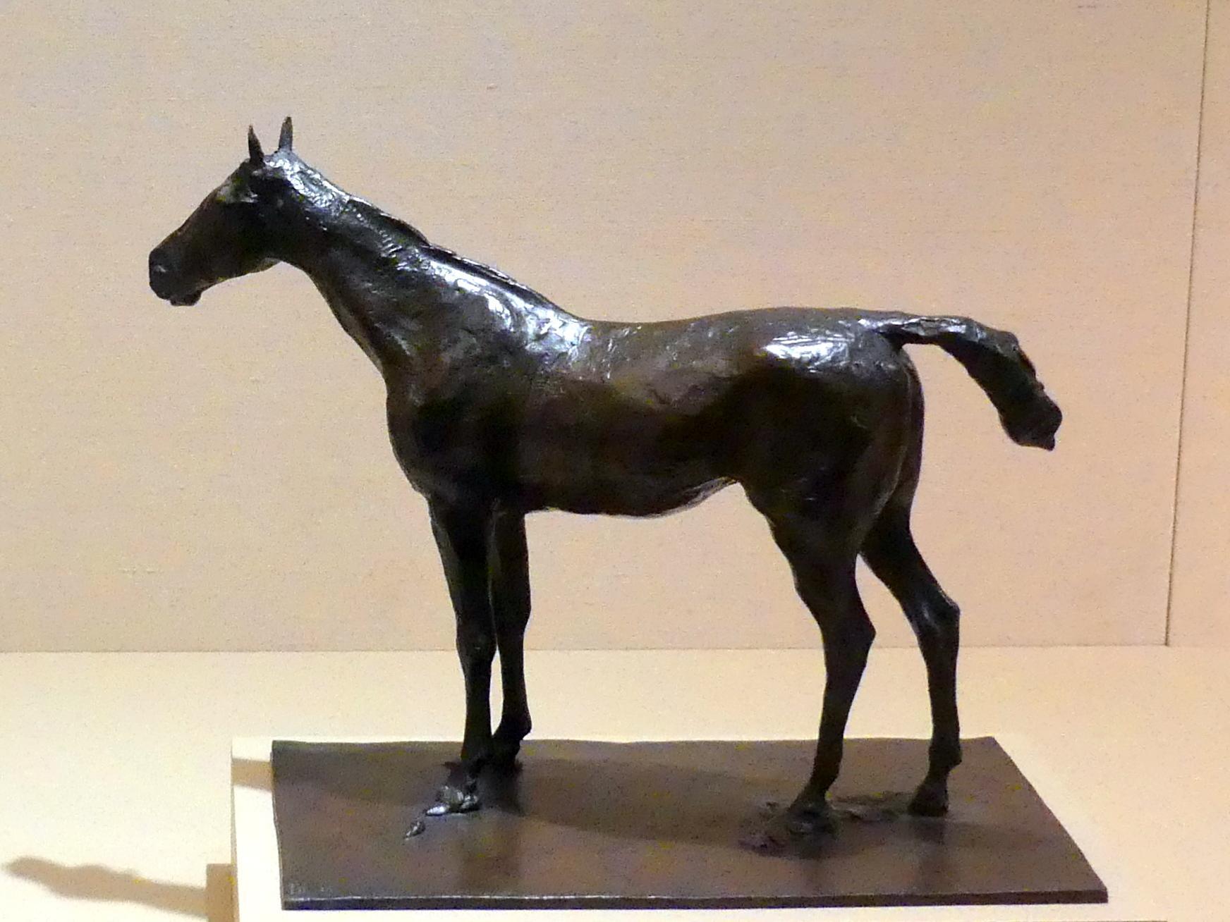Edgar Degas: Stehendes Pferd, um 1881 - 1882