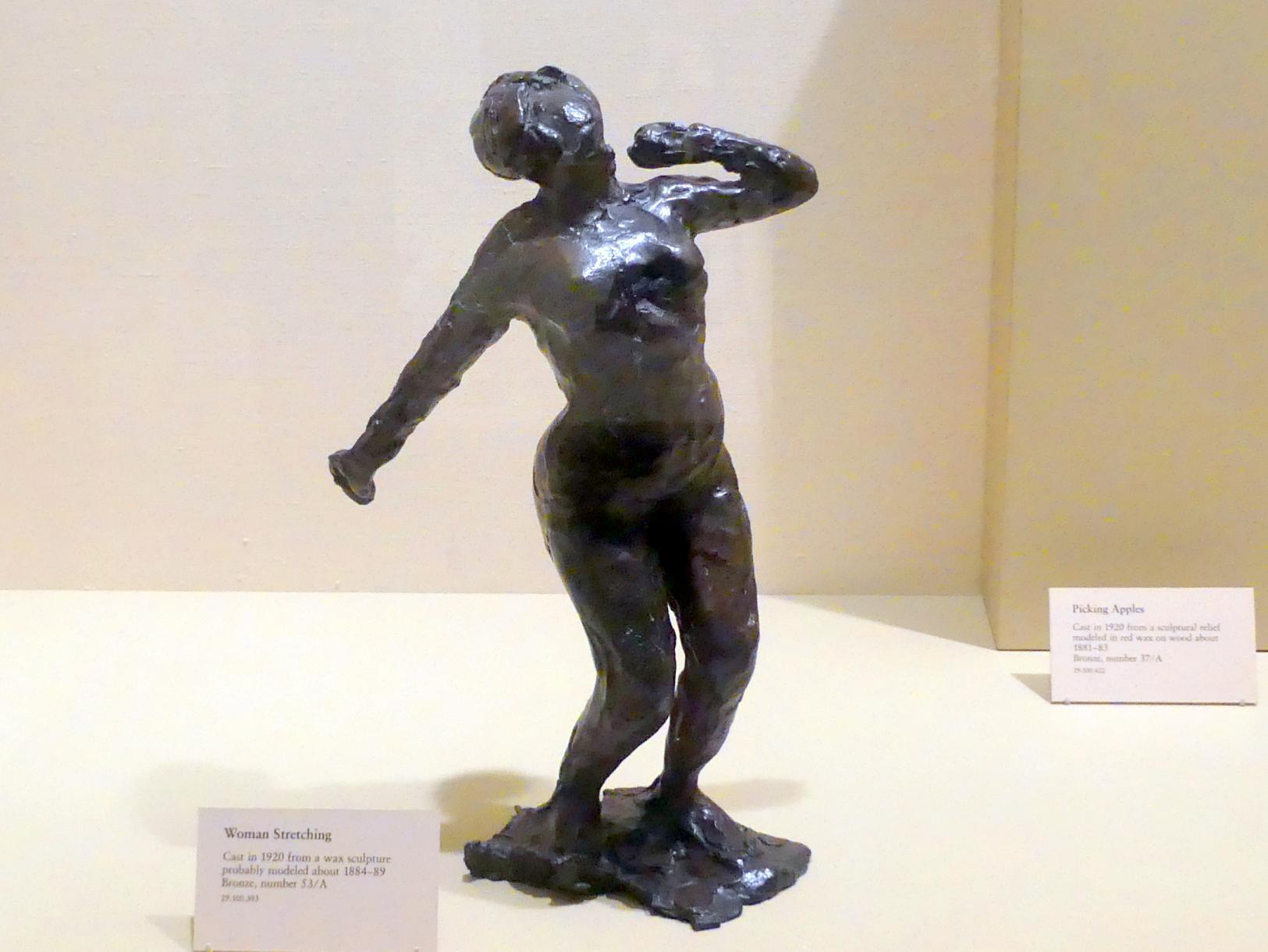 Edgar Degas: Sich streckende Frau, um 1884 - 1889
