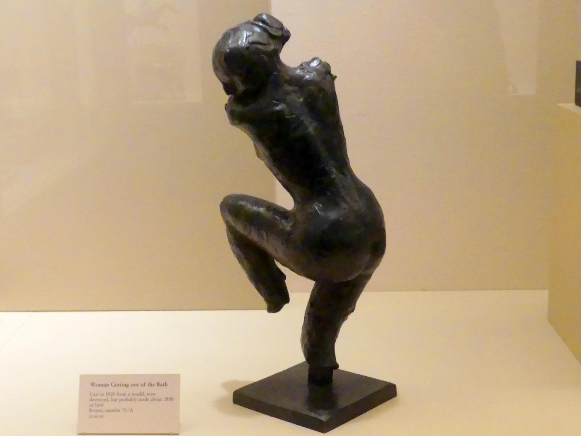 Edgar Degas: Frau aus dem Bad steigend, nach 1890