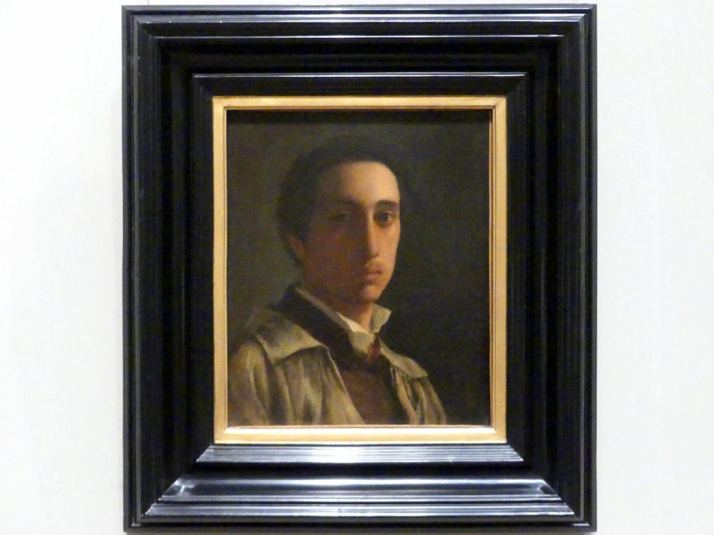Edgar Degas: Selbstporträt, um 1855 - 1856