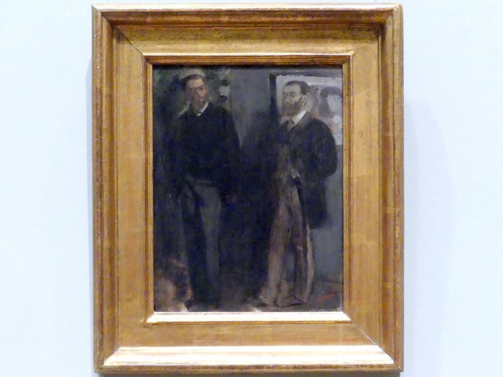 Edgar Degas: Zwei Männer, um 1865 - 1869