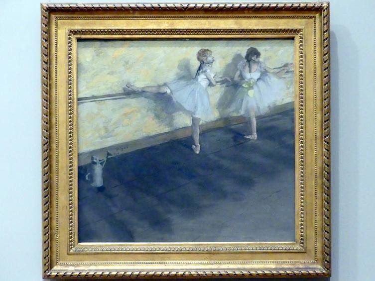 Edgar Degas: Tänzerinnen an der Stange, 1877