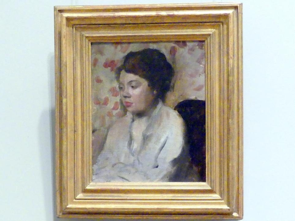 Edgar Degas: Porträt einer jungen Frau, um 1885