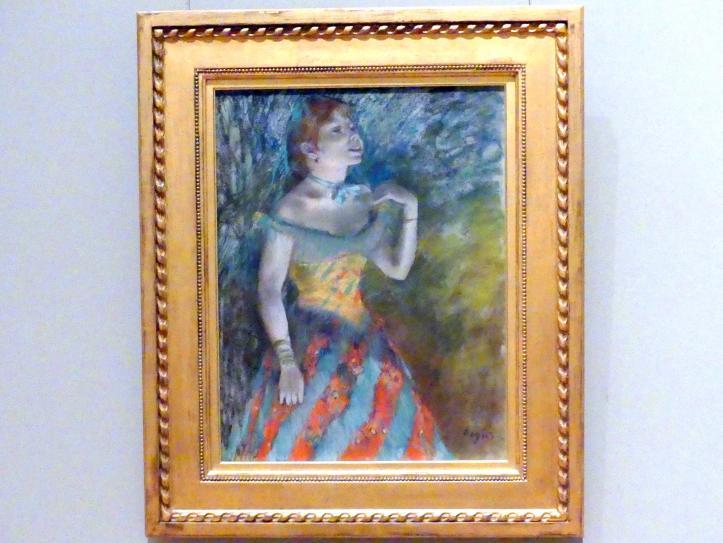 Edgar Degas: Sängerin in Grün, um 1884