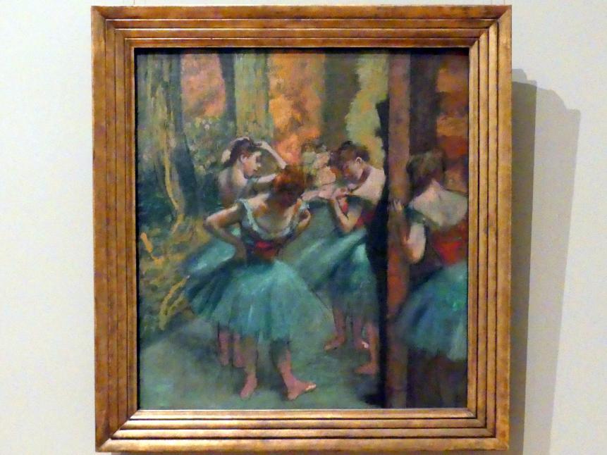 Edgar Degas: Tänzerinnen in Rosa und Grün, um 1890