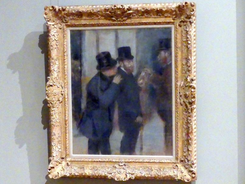 Edgar Degas: Porträts an der Börse, um 1878 - 1879