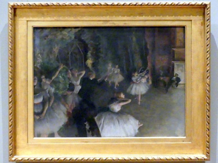 Edgar Degas: Bühnenprobe, um 1874
