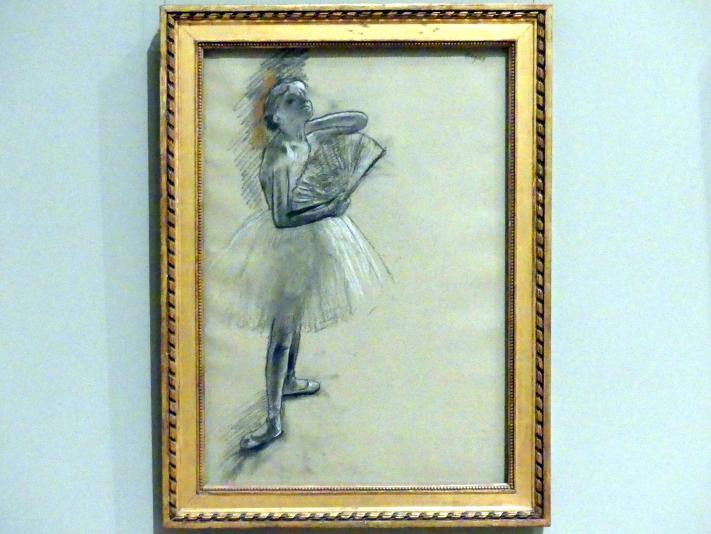 Edgar Degas: Tänzerin mit Fächer, um 1880