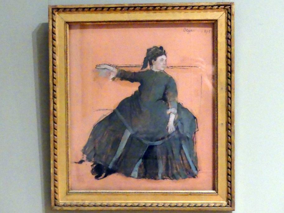 Edgar Degas: Frau auf einem Sofa, 1875