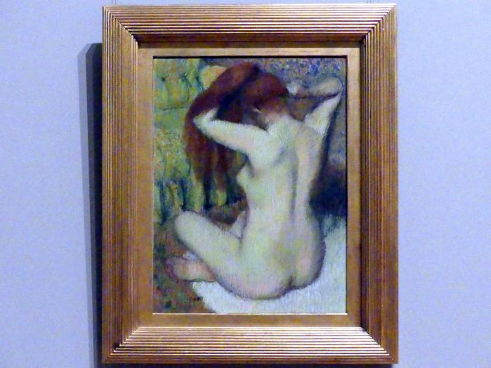 Edgar Degas: Frau kämmt ihr Haar, um 1888 - 1890