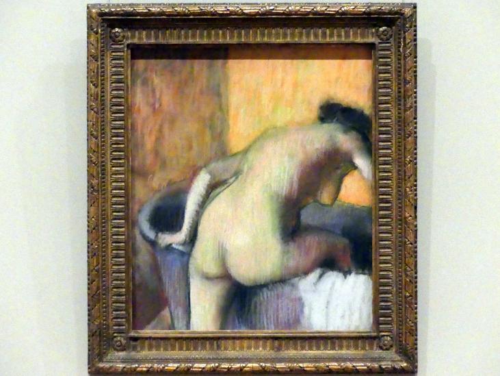 Edgar Degas: Frau, die in eine Wanne steigt, um 1890