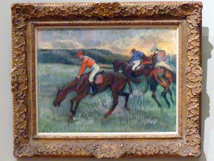 Edgar Degas: Drei Jockeys, um 1900