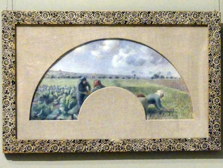 Camille Pissarro: Fächerbild: Kohlernte, um 1878 - 1879