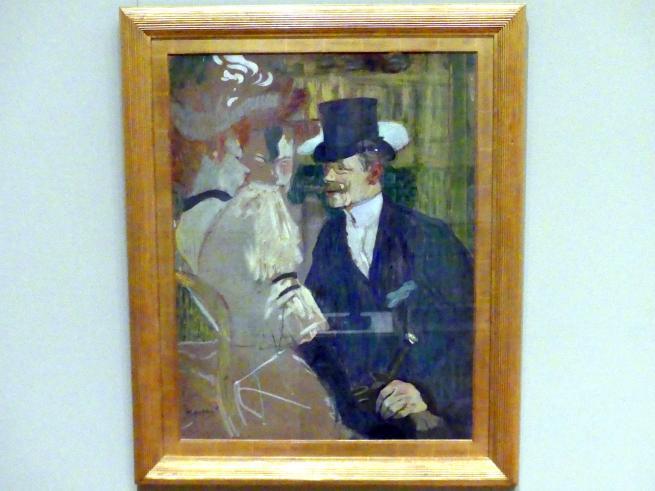 Henri de Toulouse-Lautrec: Der Engländer (William Tom Warrener, 1861-1934) im Moulin Rouge, 1892