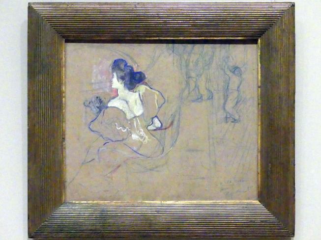 Henri de Toulouse-Lautrec: Madame Thadée Natanson (Misia Godebska, 1872-1950) im Theater, 1895