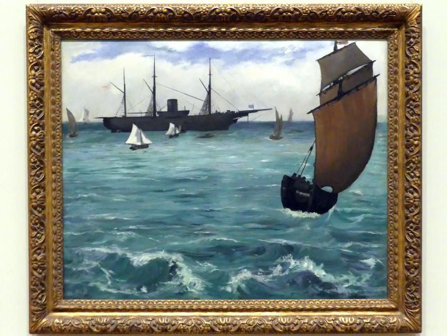"Édouard Manet: Die ""Kearsarge"" bei Boulogne, 1864"