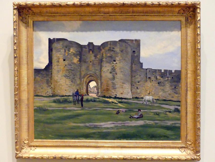 Frédéric Bazille (Jean-Frédéric Bazille): Porte de la Reine in Aigues-Mortes, 1867