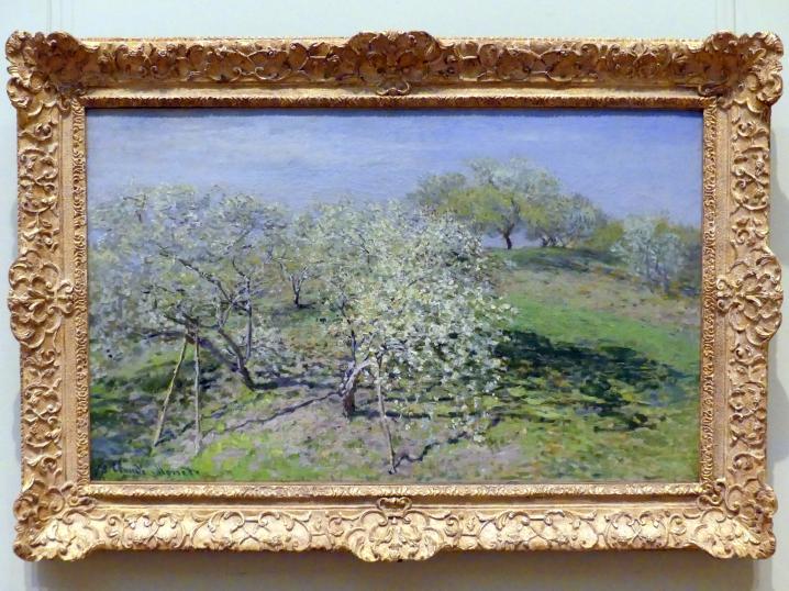 Claude Monet: Frühling (Obstbäume in voller Blüte), 1873