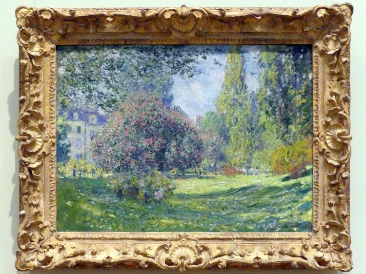 Claude Monet: Landschaft: Der Parc Monceau, 1876
