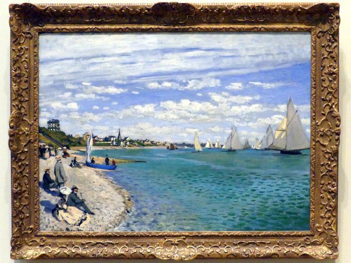 Claude Monet: Regatta bei Sainte-Adresse, 1867