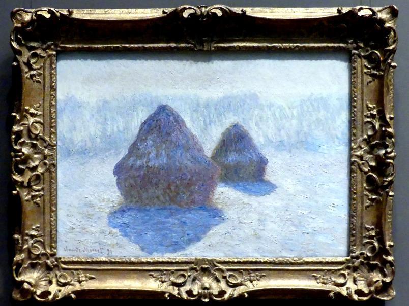 Claude Monet: Heuhaufen (Effekt von Schnee und Sonne), 1891