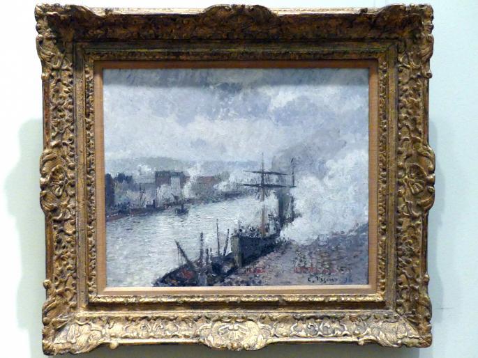 Camille Pissarro: Dampfschiffe im Hafen von Rouen, 1896