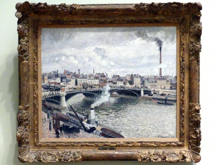 Camille Pissarro: Morgen, ein bewölkter Tag, Rouen, 1896