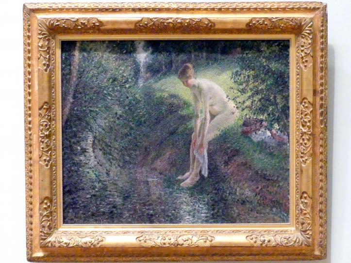 Camille Pissarro: Badende im Wald, 1895