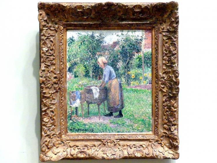 Camille Pissarro: Eine Waschfrau in Éragny, 1893