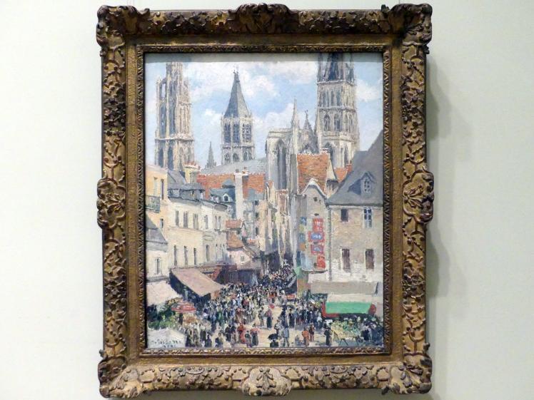 Camille Pissarro: Rue de l'Épicerie in Rouen, bei Sonnenlicht, 1898