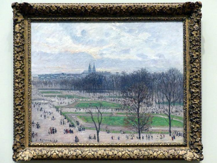 Camille Pissarro: Der Tuileriengarten an einem Winternachmittag, 1899