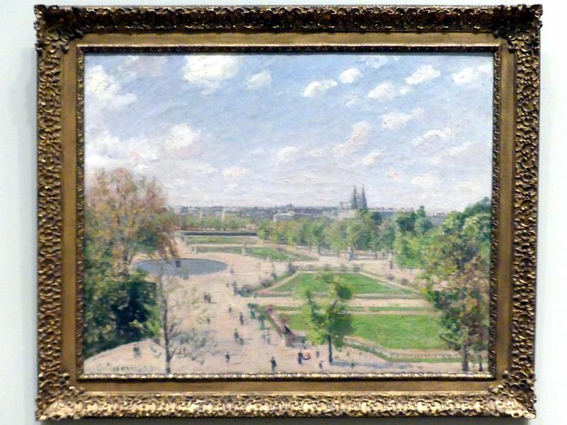 Camille Pissarro: Der Tuileriengarten an einem Frühlingsmorgen, 1899