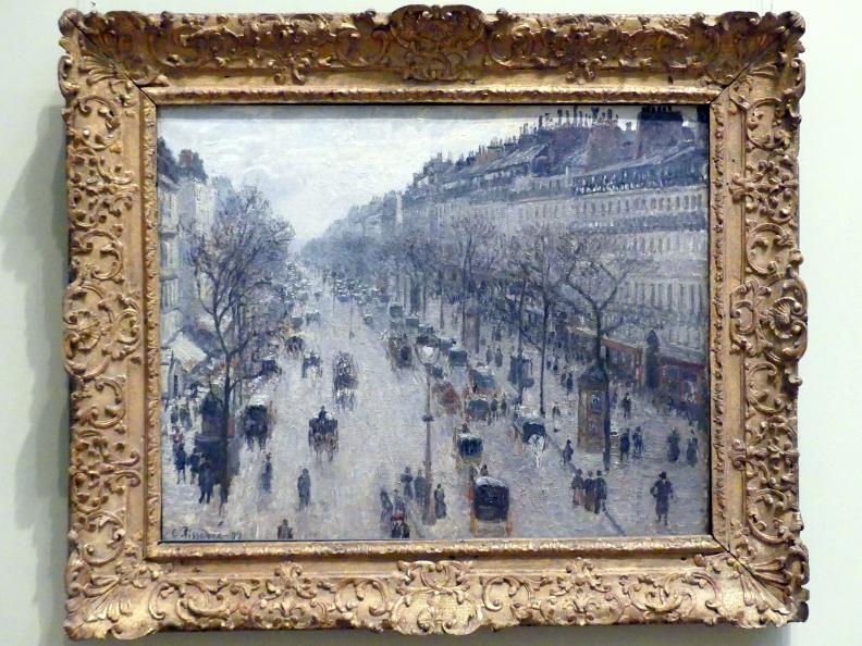 Camille Pissarro: Der Boulevard Montmartre an einem Wintermorgen, 1897