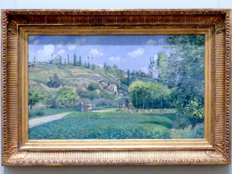Camille Pissarro: Eine Kuhhirtin in Valhermeil, Auvers-sur-Oise, 1874