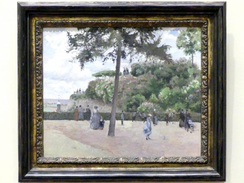 Camille Pissarro: Der öffentliche Garten in Pontoise, 1874