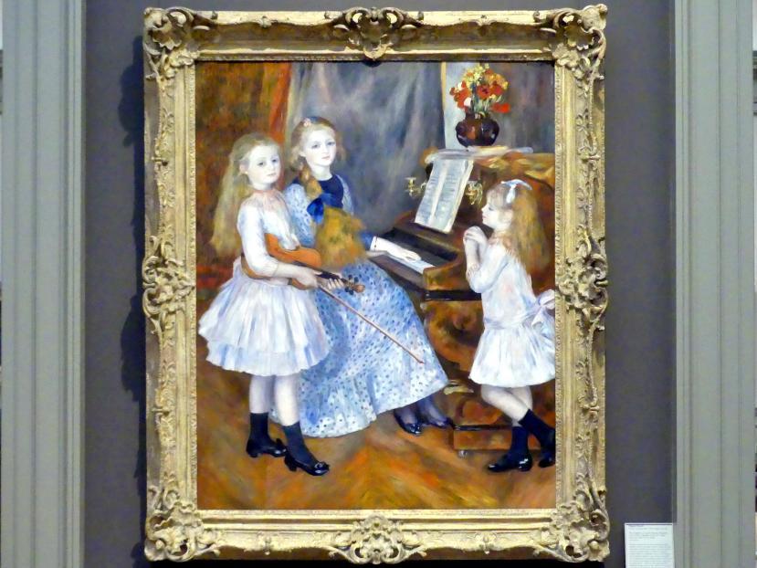Auguste Renoir (Pierre-Auguste Renoir): Die Töchter von Catulle Mendès, Huguette (1871-1964), Claudine (1876-1937) und Helyonne (1879-1955), 1888