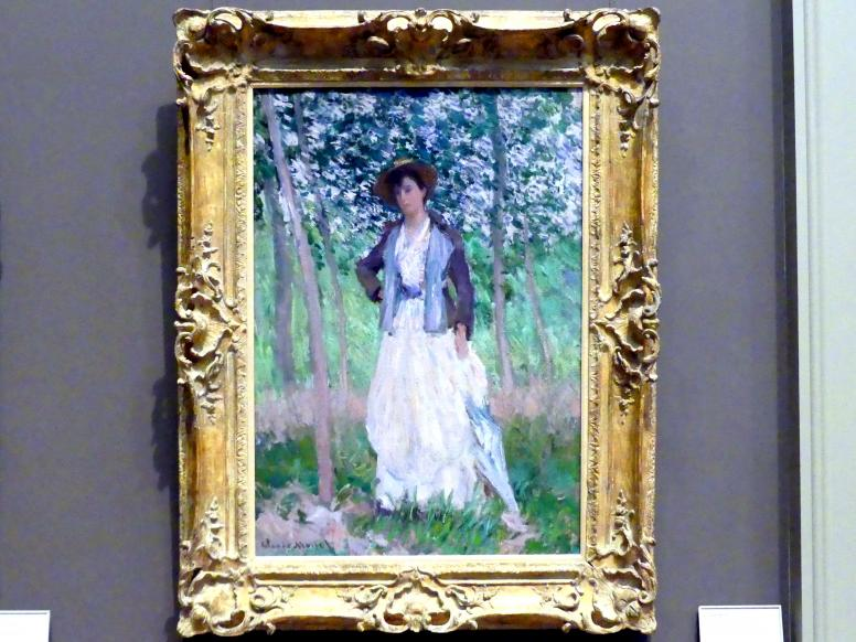 Claude Monet: Die Spaziergängerin (Suzanne Hoschedé, später Mrs. Theodore Earl Butler, 1868-1899), 1887
