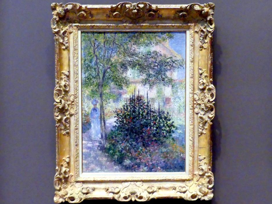 Claude Monet: Camille Monet (1847-1879) im Garten von Argenteuil, 1876