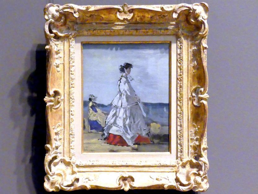 Eugène Boudin: Prinzessin Pauline Metternich (1836-1921) am Strand, um 1865 - 1867