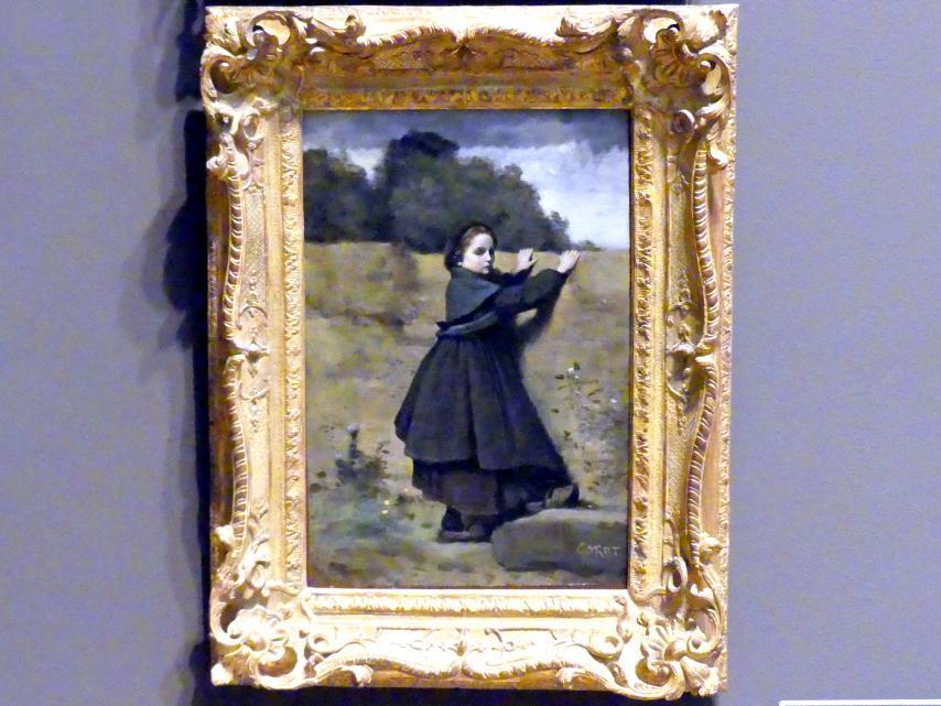 Jean-Baptiste Camille Corot: Das neugierige kleine Mädchen, 1860 - 1864