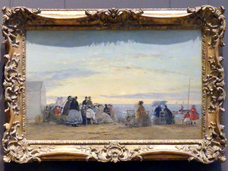 Eugène Boudin: Am Strand, Sonnenaufgang, 1865